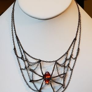Jewelry - Spider and Chain Web Necklace